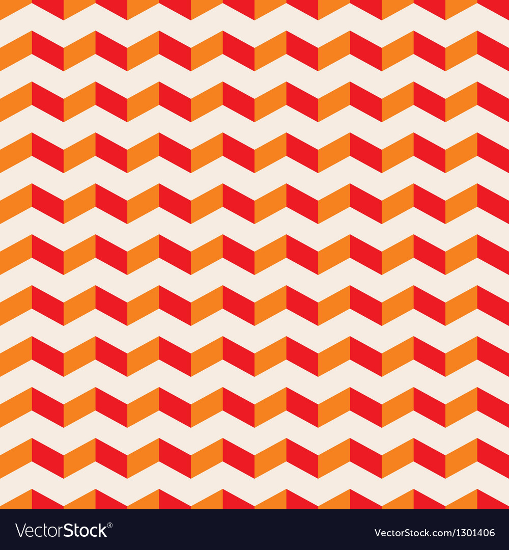 Aztec chevron seamless hot pattern red and orange vector | Price: 1 Credit (USD $1)