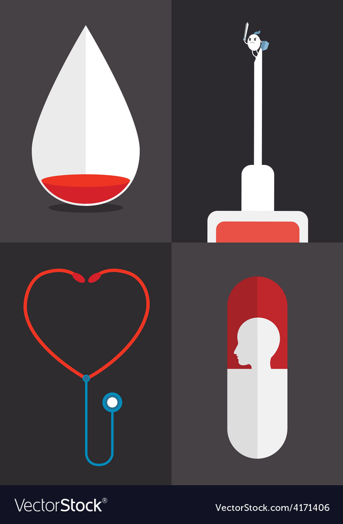 Blood syringe vector | Price: 1 Credit (USD $1)