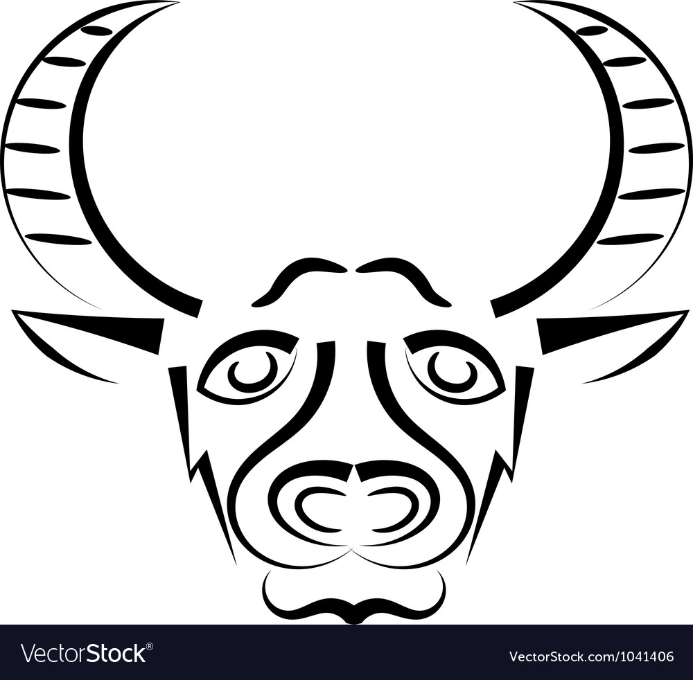 Bull head mascot vector | Price: 1 Credit (USD $1)