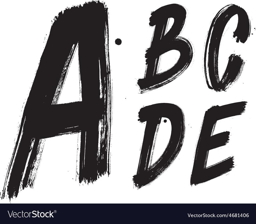 Detailed hand written brush font type alphabet vector   Price: 1 Credit (USD $1)