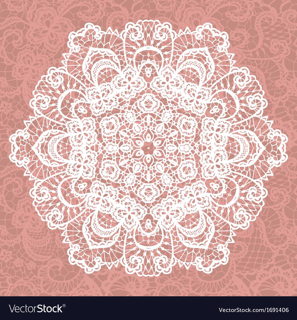 Elegant lacy doily snowflake vector | Price: 1 Credit (USD $1)