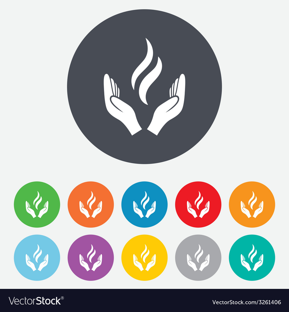 Energy hands sign icon power from hands symbol vector | Price: 1 Credit (USD $1)