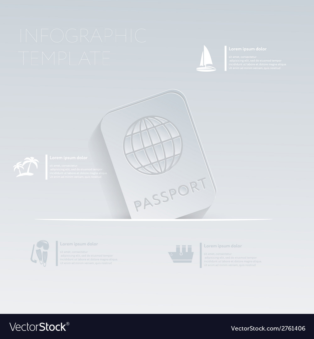 International passport theme holidays template vector | Price: 1 Credit (USD $1)