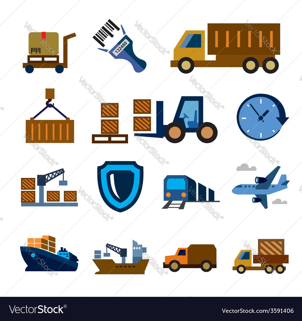 Logistic and shipping vector | Price: 1 Credit (USD $1)