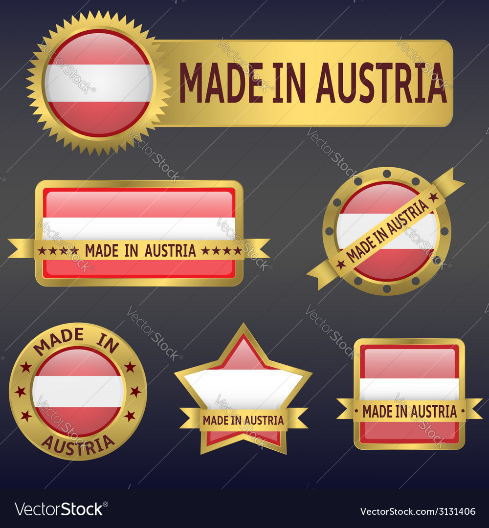 Made in austria vector | Price: 1 Credit (USD $1)