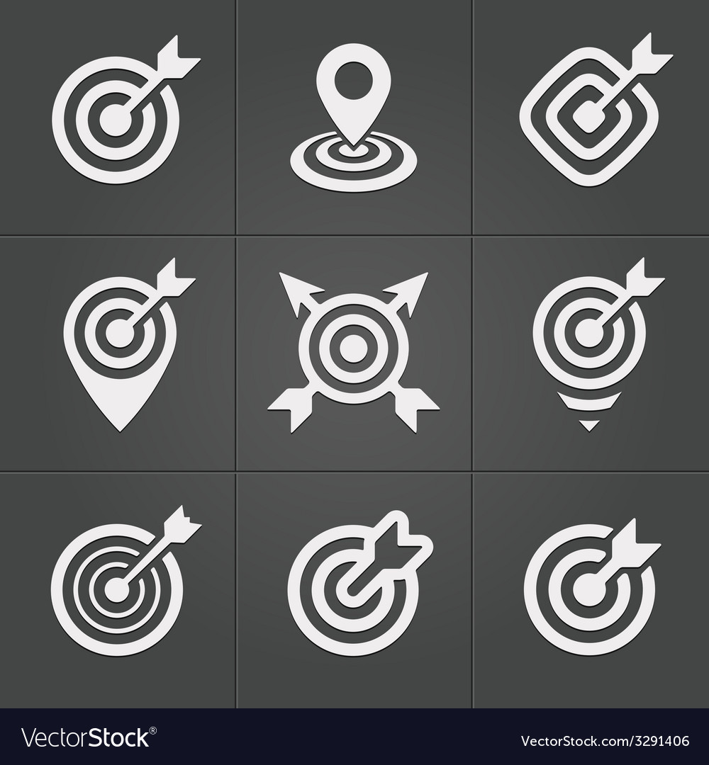 Target icons pack for business mobile interface vector | Price: 1 Credit (USD $1)