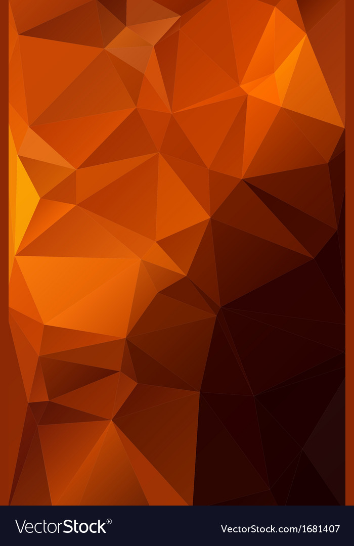 Abstract orange with brown background polygon vector | Price: 1 Credit (USD $1)
