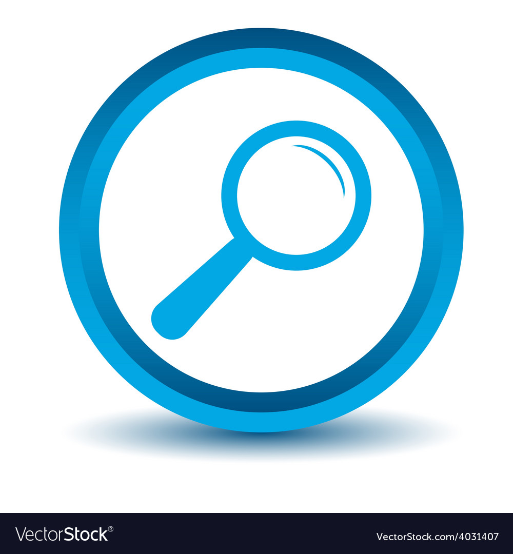 Blue magnifying glass icon vector | Price: 1 Credit (USD $1)