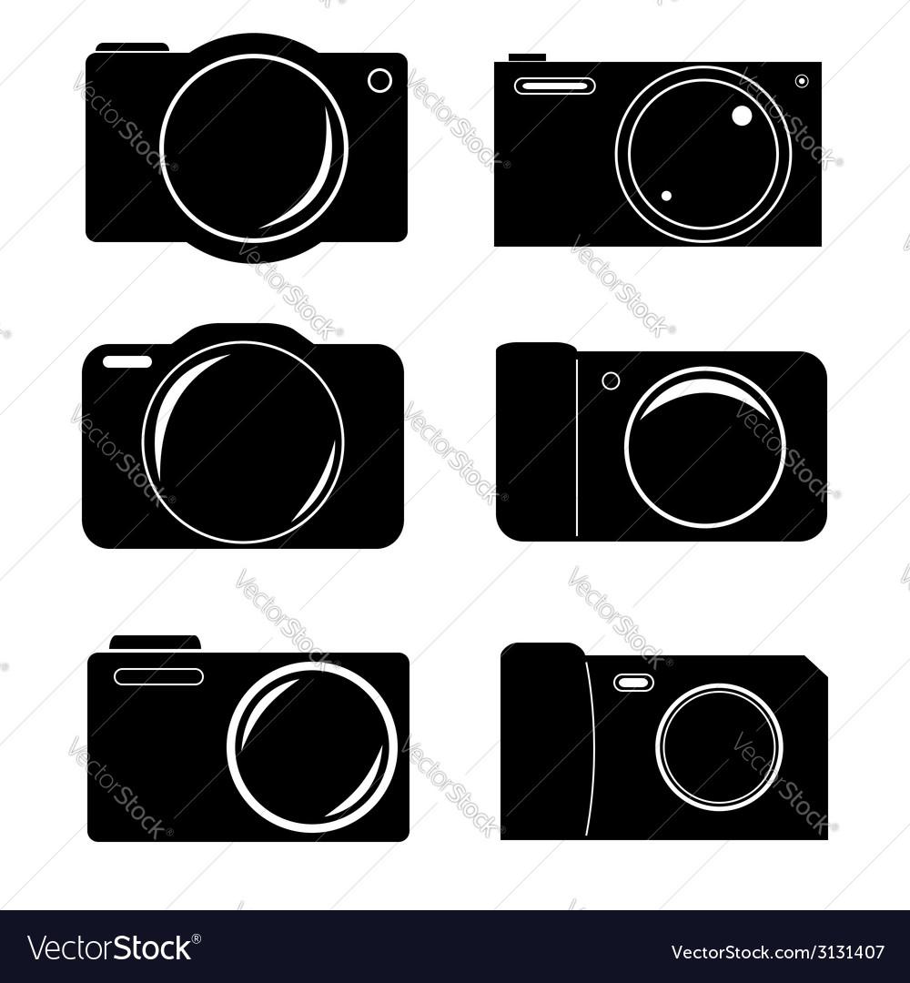 Camera icon set vector   Price: 1 Credit (USD $1)