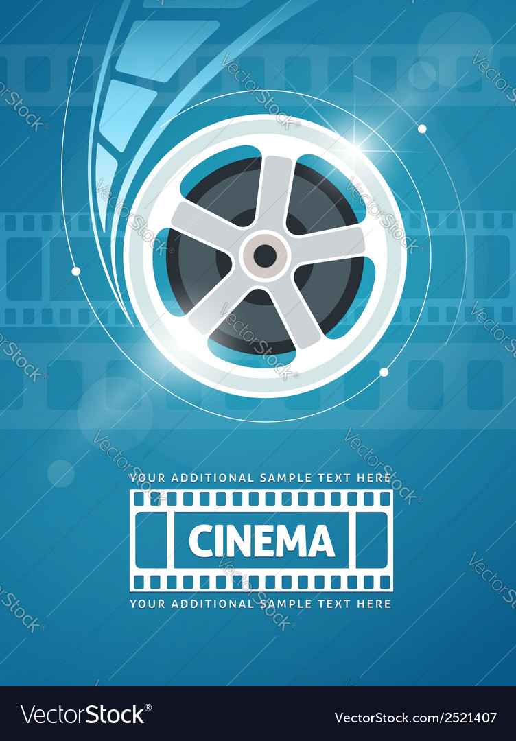 Cinema movie film vector | Price: 1 Credit (USD $1)