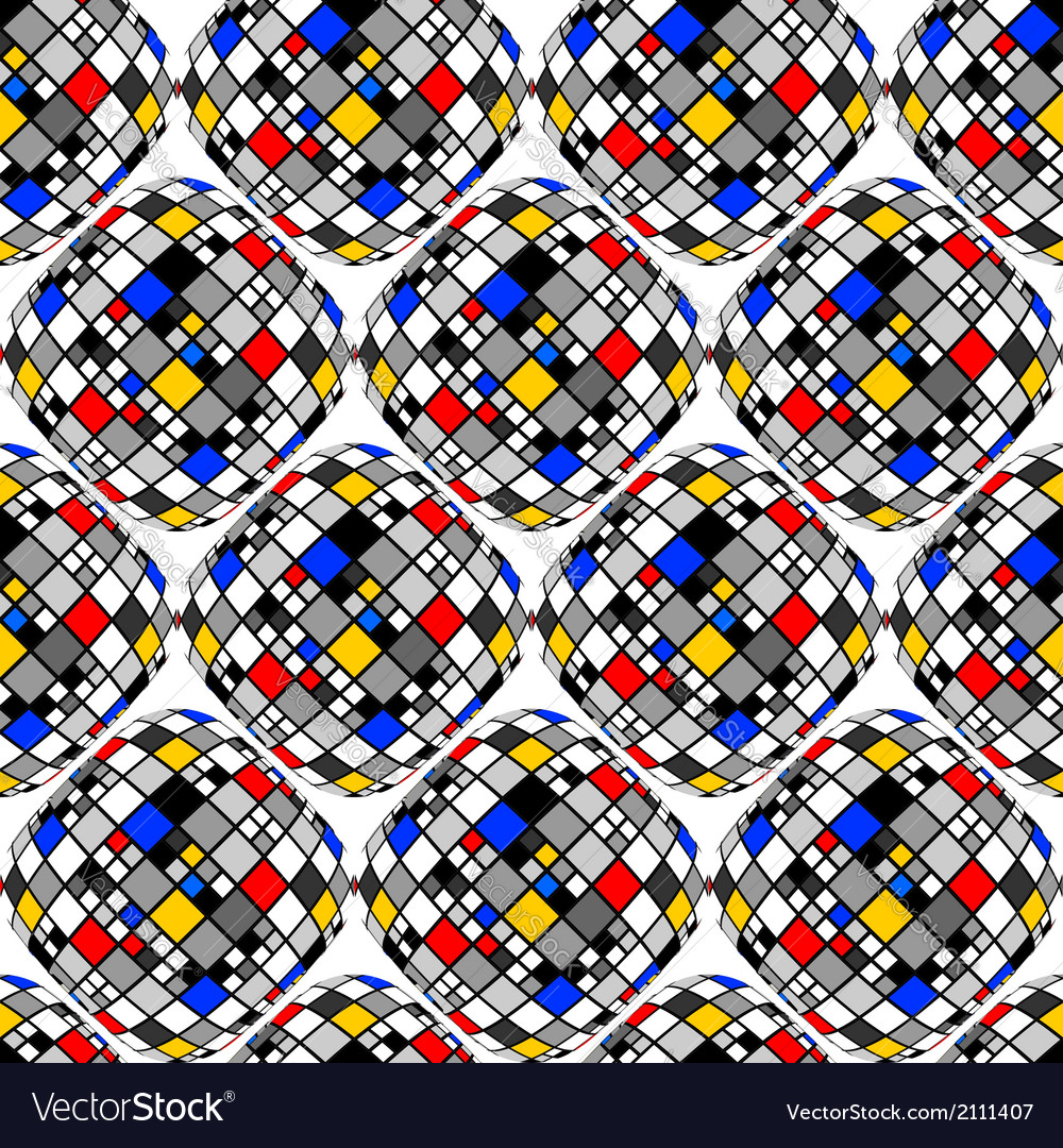 Design seamless colorful mosaic geometric pattern vector | Price: 1 Credit (USD $1)