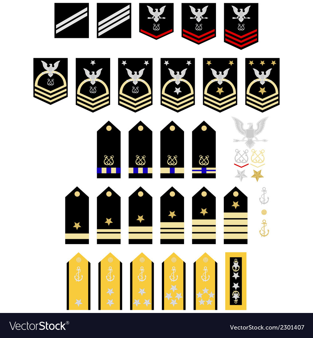 Insignia of the us navy vector | Price: 1 Credit (USD $1)