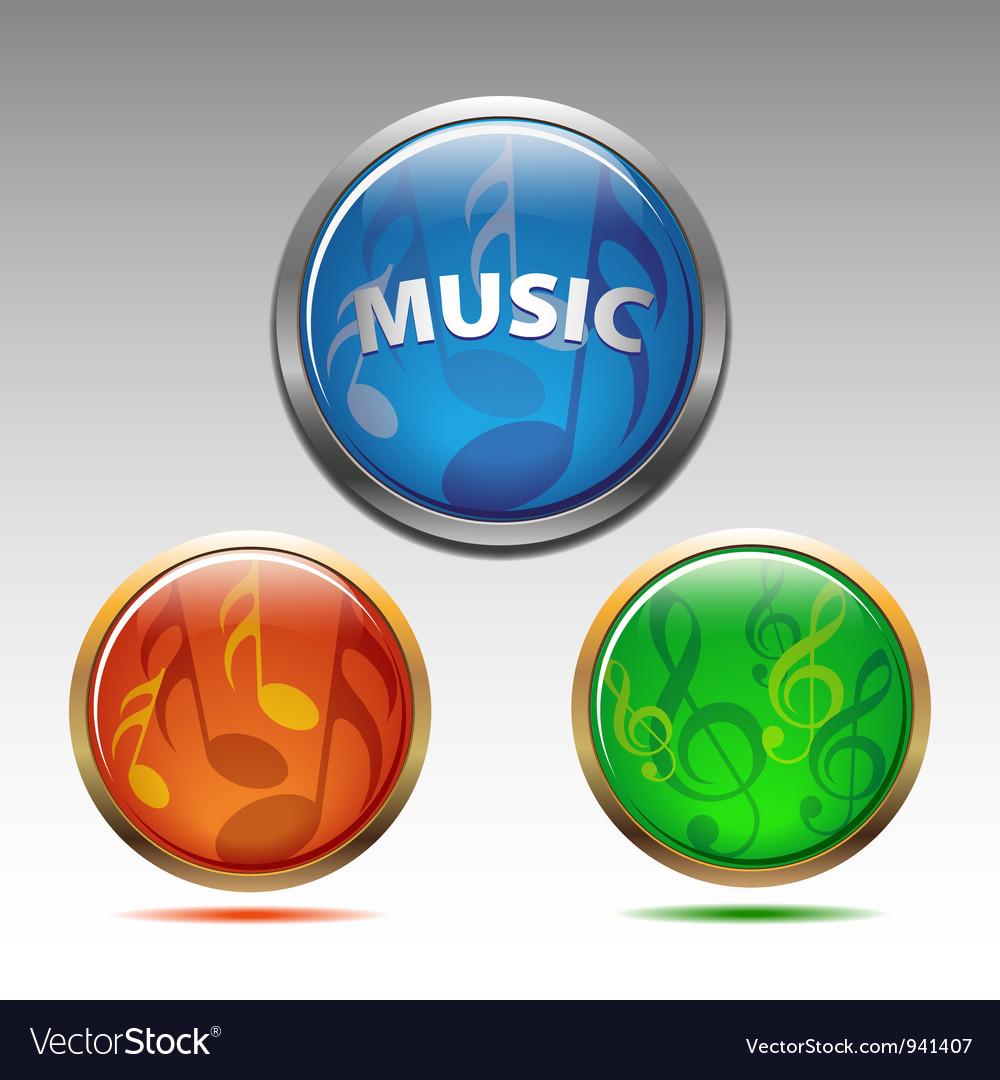 Musical symbols vector | Price: 1 Credit (USD $1)