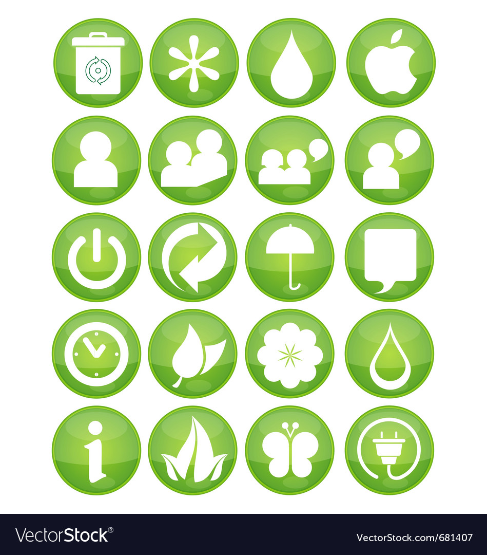Nature eco symbols vector | Price: 1 Credit (USD $1)