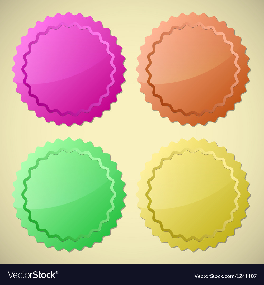 Set of colourful circle labels vector | Price: 1 Credit (USD $1)