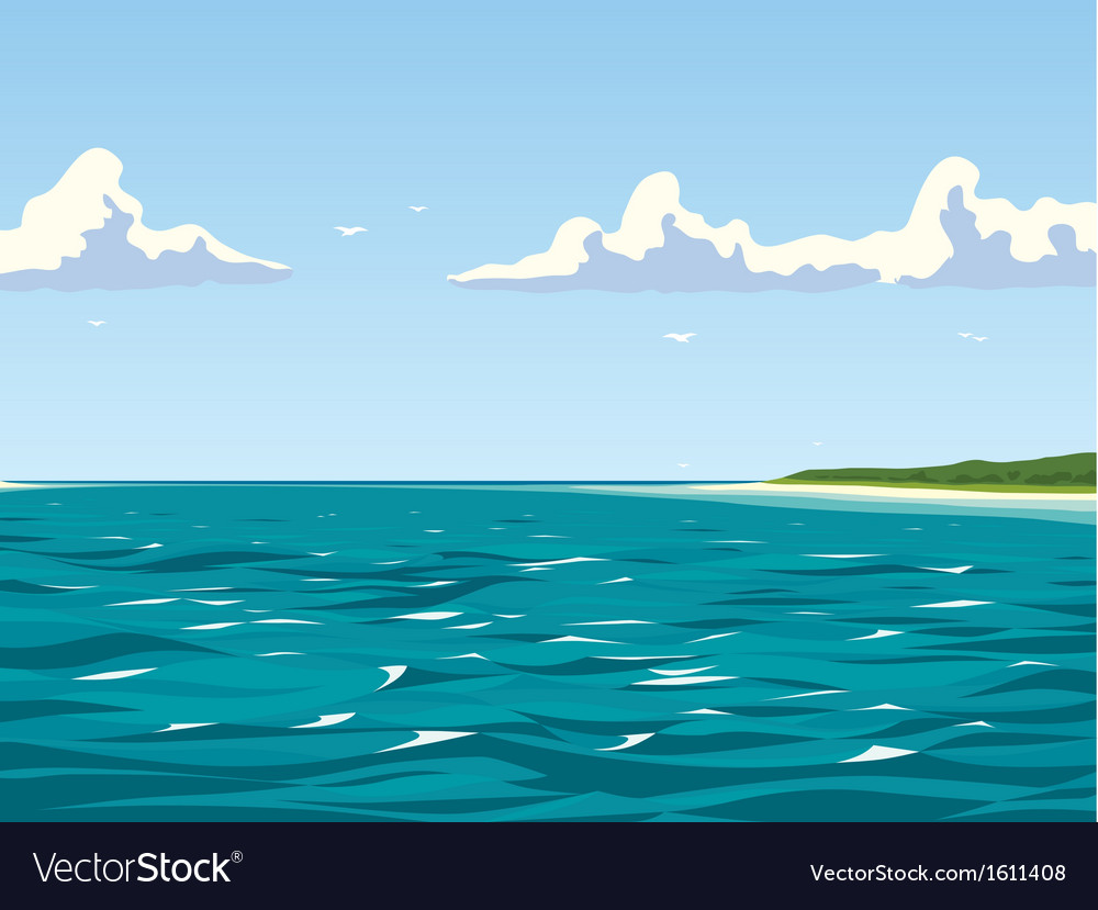 Calm view of the seaside vector | Price: 3 Credit (USD $3)