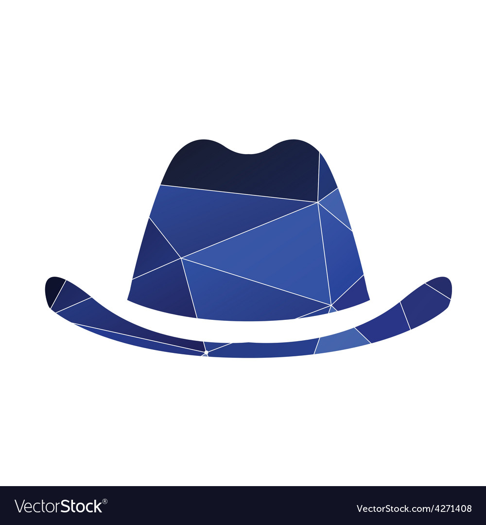 Classic hat icon abstract triangle vector | Price: 1 Credit (USD $1)