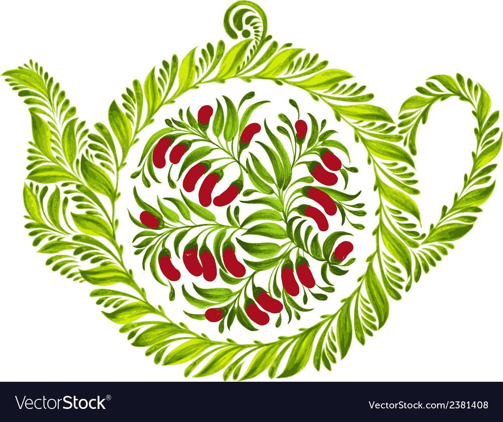 Decorative ornament teapot vector | Price: 1 Credit (USD $1)