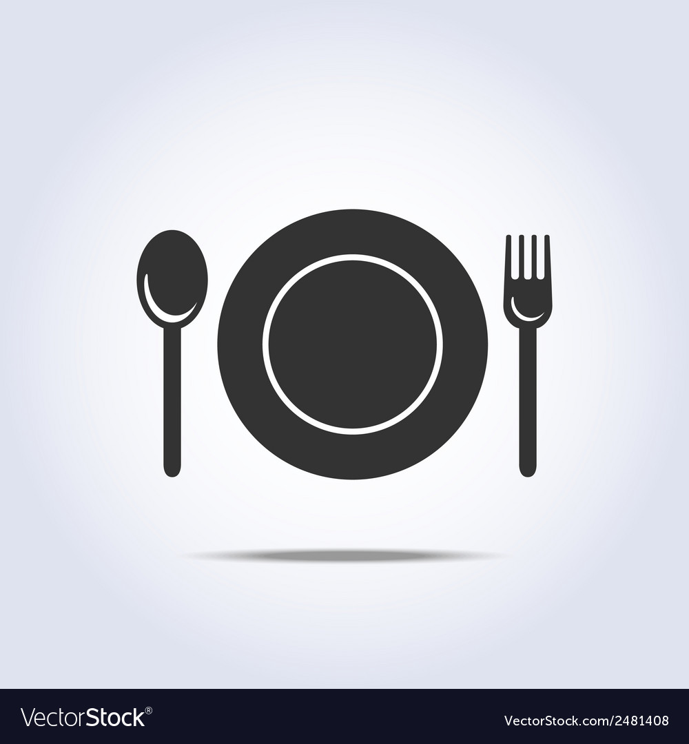 Fork spun plate icon vector | Price: 1 Credit (USD $1)
