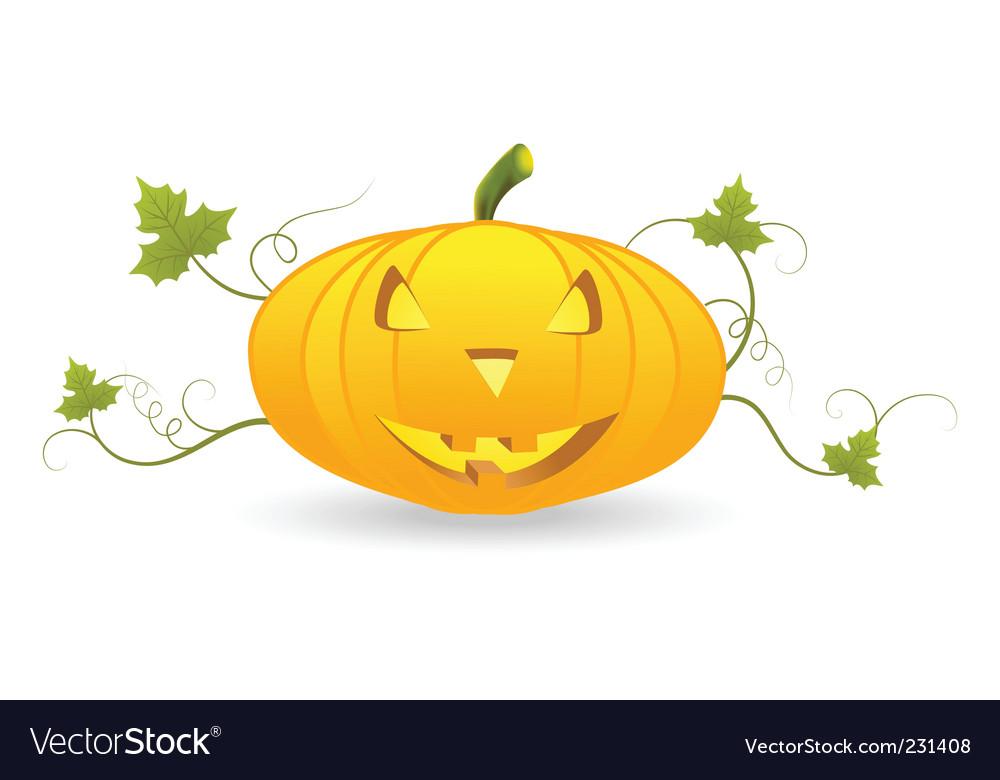 Halloween pumpkin lantern vector | Price: 1 Credit (USD $1)