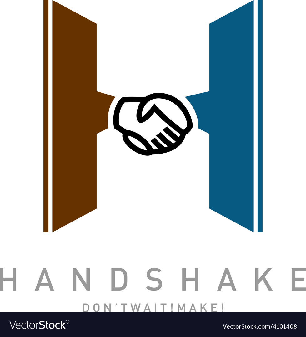 Letter h with handshake icon integrated logo vector | Price: 1 Credit (USD $1)