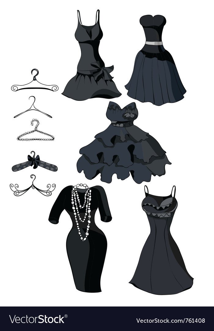 Little black dresses vector | Price: 1 Credit (USD $1)