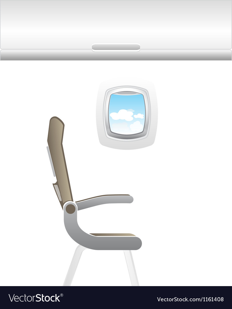 Plane - jet interior with seats vector | Price: 1 Credit (USD $1)