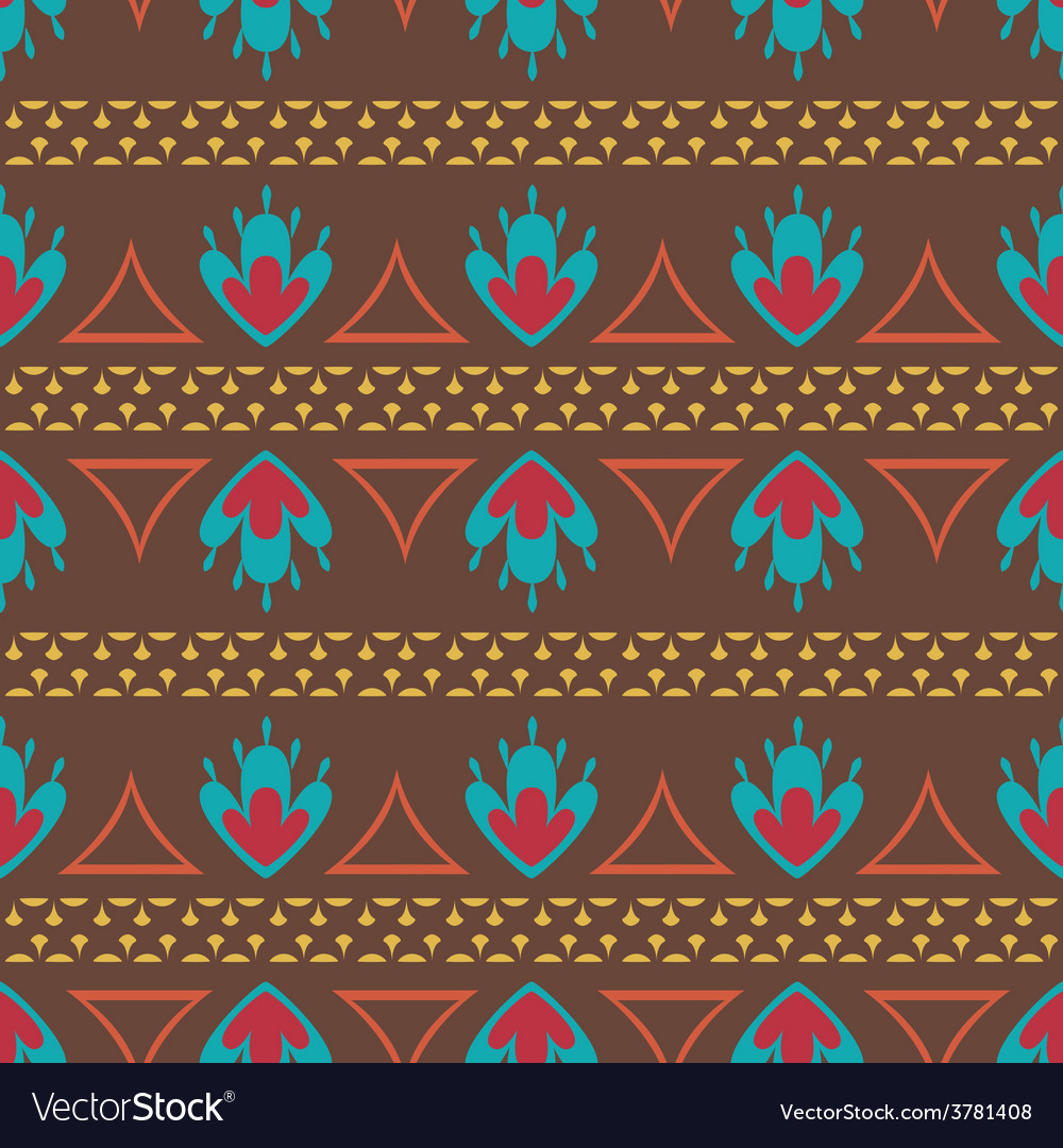 Retro ethnic oriental seamless pattern vector | Price: 1 Credit (USD $1)