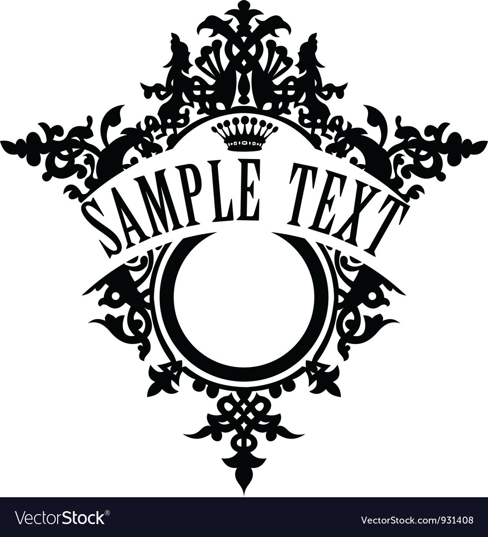 Vintage ornamental frame template for your title vector | Price: 1 Credit (USD $1)