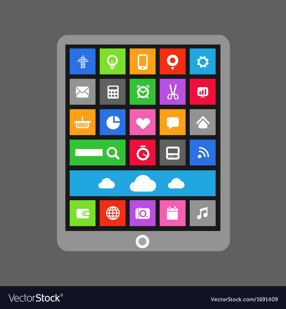 Abstract color tile interface vector | Price: 1 Credit (USD $1)