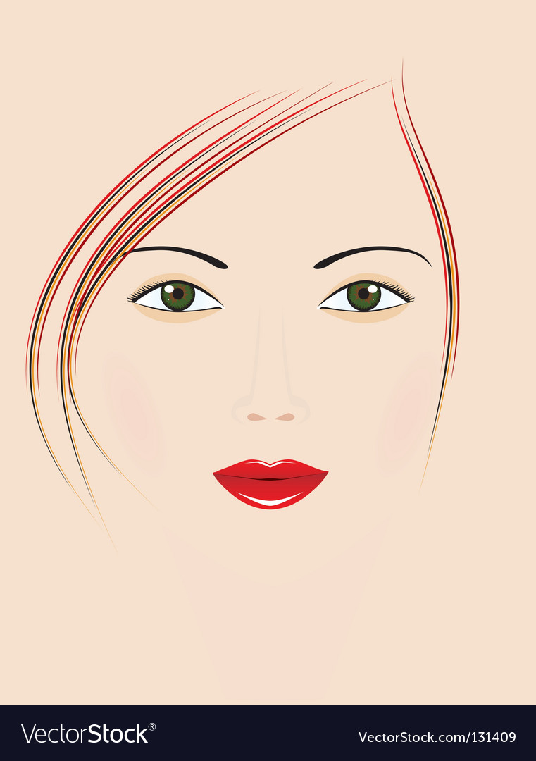 Beautiful girl with green eyes vector | Price: 1 Credit (USD $1)