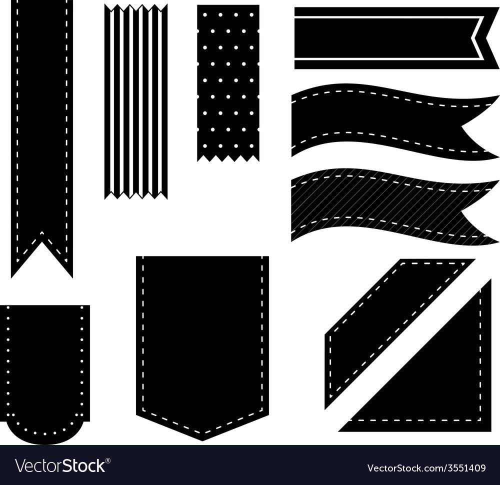 Black ribbons vector | Price: 1 Credit (USD $1)