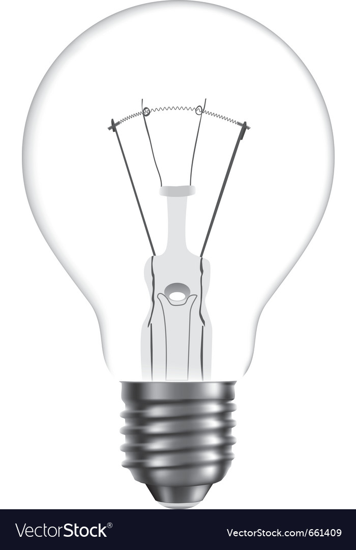 Bulb isolated on white background vector | Price: 1 Credit (USD $1)