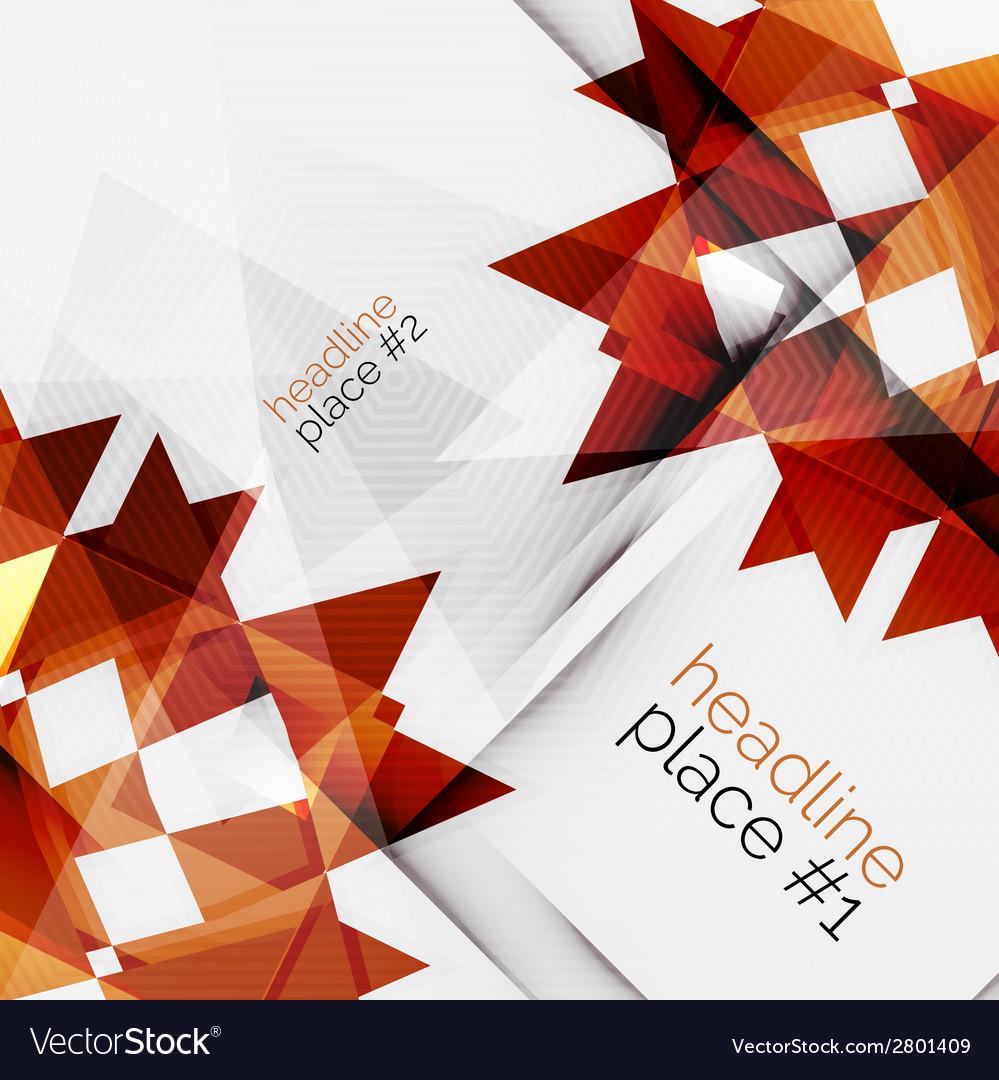Business futuristic triangle composition vector | Price: 1 Credit (USD $1)