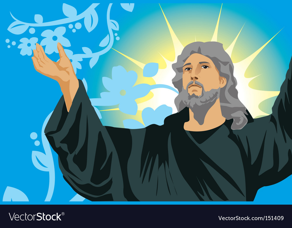 Jesus show hand vector | Price: 1 Credit (USD $1)