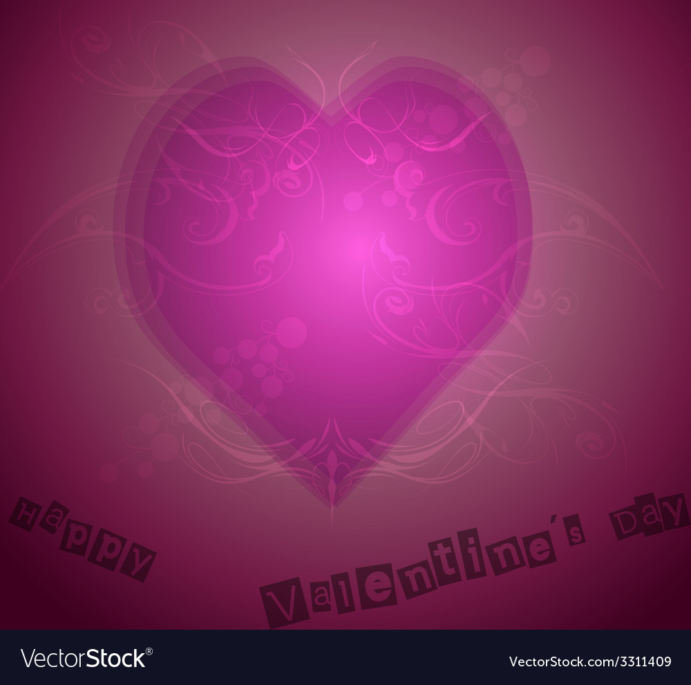 Pink heart shape with background vector | Price: 1 Credit (USD $1)