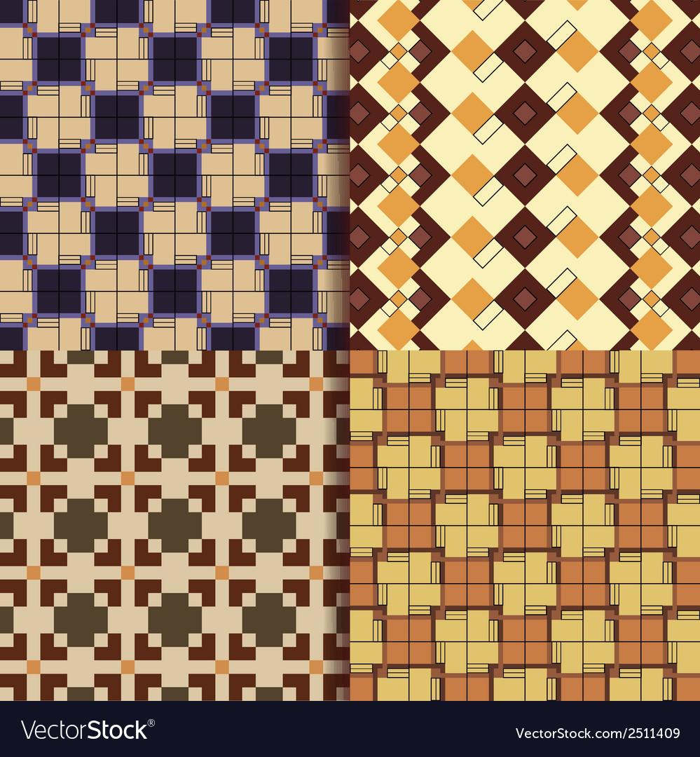 Retro square patterns background vector | Price: 1 Credit (USD $1)