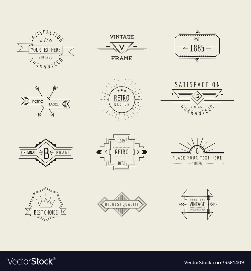 Set of badges and labels elements vector | Price: 1 Credit (USD $1)