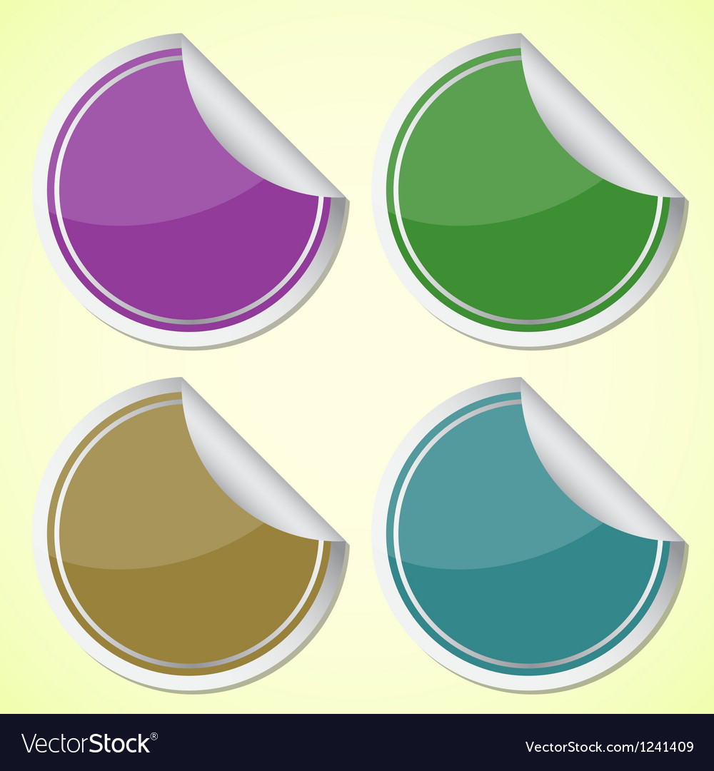 Set of colourful circle stickers vector | Price: 1 Credit (USD $1)