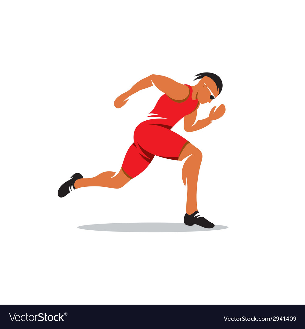 Sprinter runner sign vector | Price: 1 Credit (USD $1)