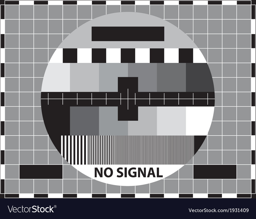 Television test pattern vector | Price: 1 Credit (USD $1)