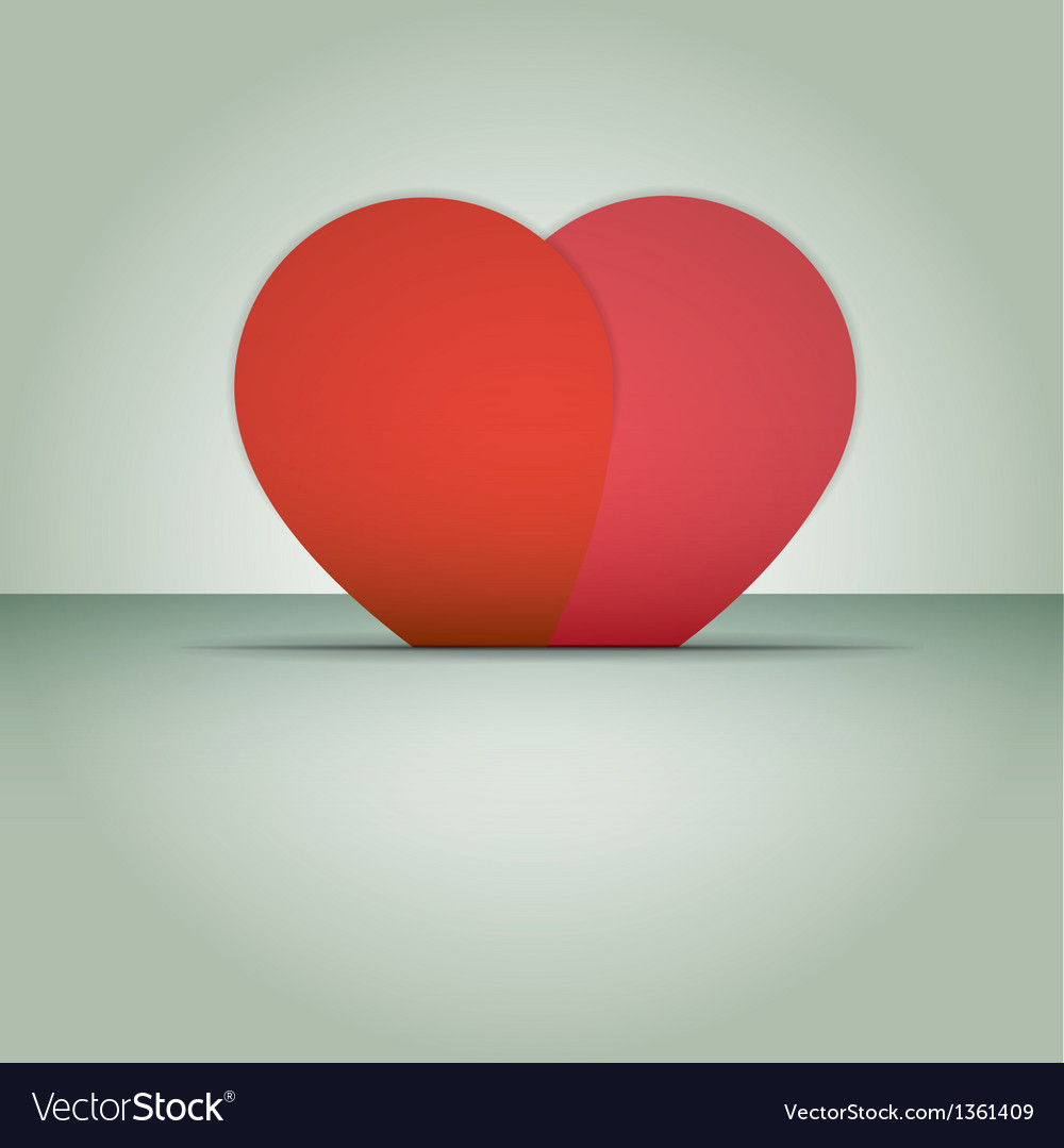 Valentines day card with hearts and place for text vector | Price: 1 Credit (USD $1)