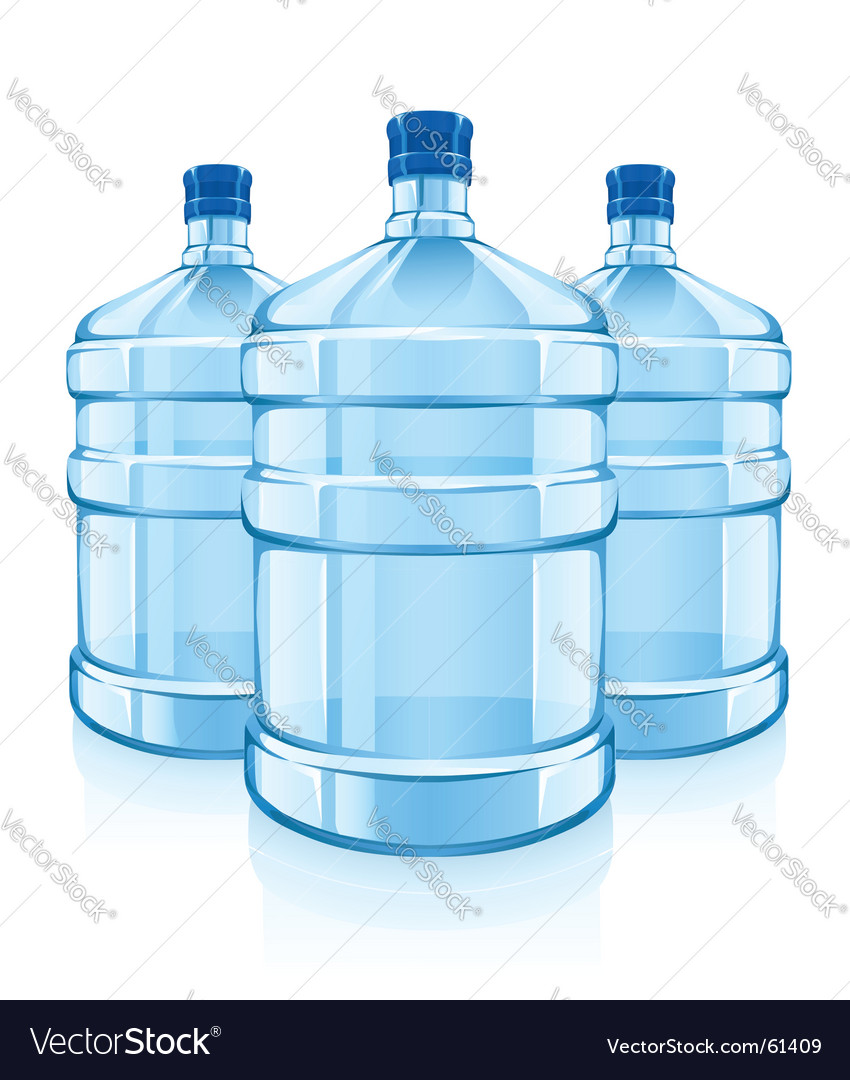 Water cooler bottles vector