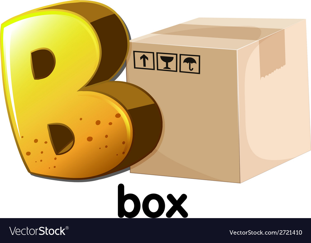 A letter b for box vector | Price: 1 Credit (USD $1)