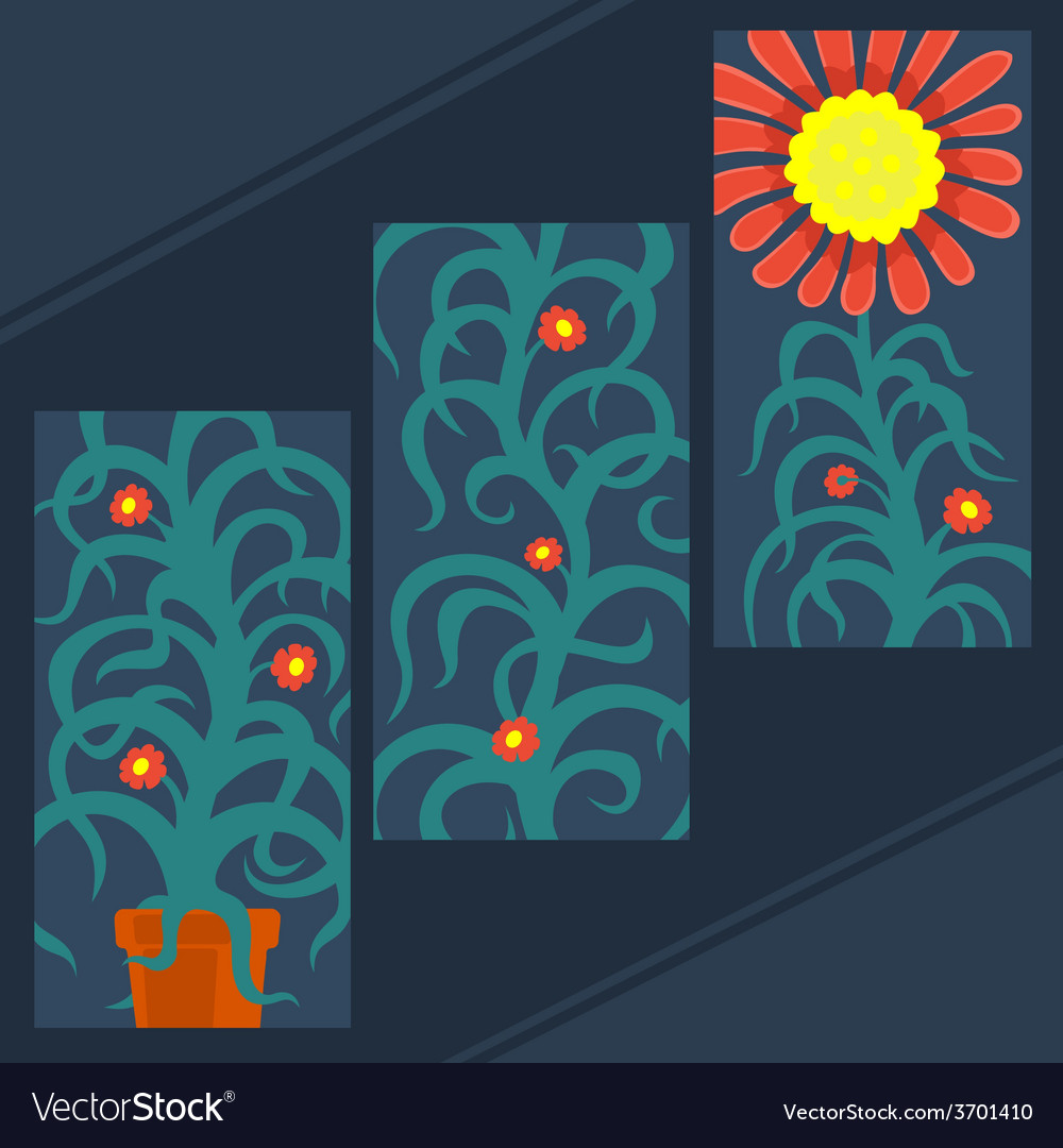 Art plant set vector | Price: 1 Credit (USD $1)