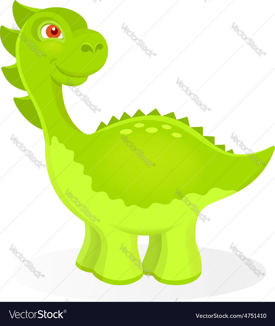 Cartoon dinosaur character vector   Price: 1 Credit (USD $1)