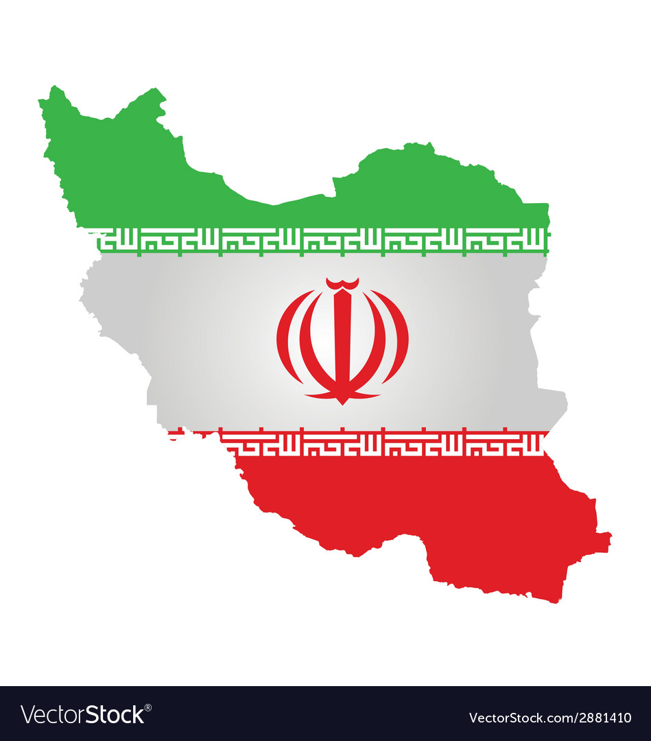 Iranian flag vector | Price: 1 Credit (USD $1)