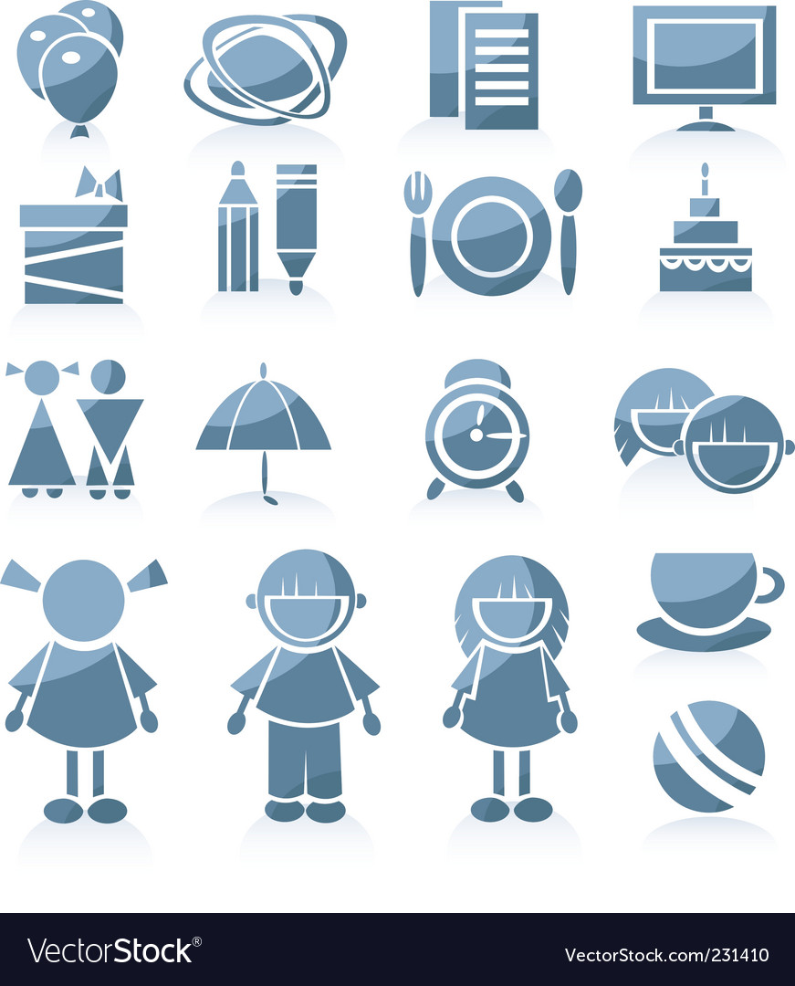 Kid icons vector | Price: 1 Credit (USD $1)