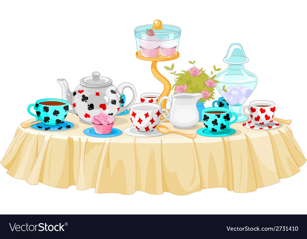 Tea party vector   Price: 1 Credit (USD $1)