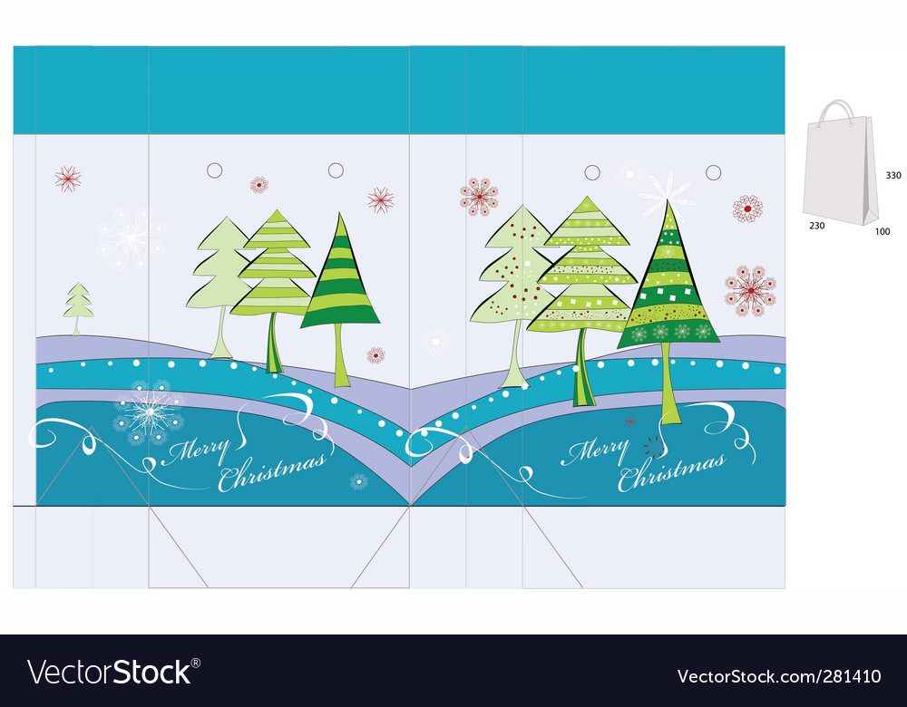 Template for christmas bag design vector | Price: 1 Credit (USD $1)